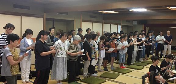 加藤流 三絃道総師範 加藤訓峯教室風景3